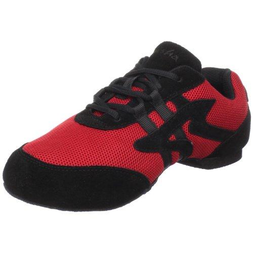 Sansha Salsette 1 Jazz Sneaker,Red/Black,11 Sansha (9 M US Women's/6 M US Men's)