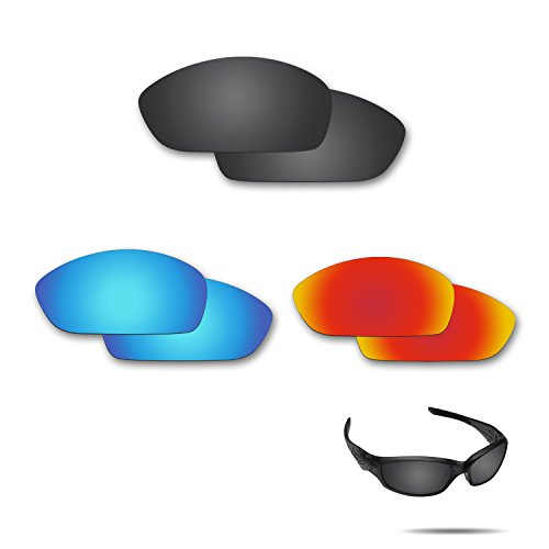 a794d9f46f Fiskr Anti-Saltwater Polarized Replacement Lenses for Oakley Straight  Jacket 2007 3 Pair Pack