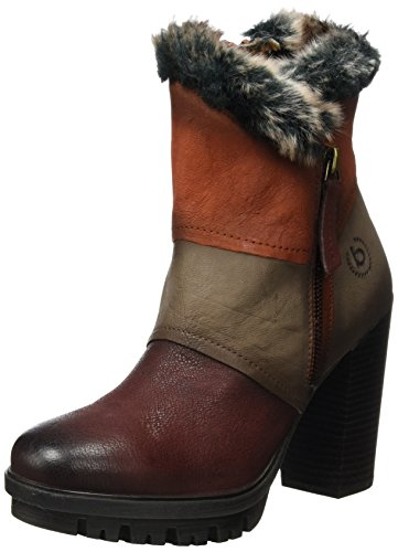 red Boots red 3114 dark taupe 411339323515 taupe Bugatti dark Women Ankle red UxXAEvq