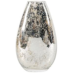 A&B Home Mercury Glass Vase, 15.8-Inch