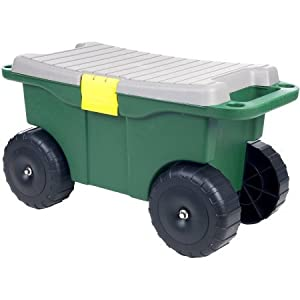 "Pure Garden 20"" Plastic Garden Storage Cart and Scooter"