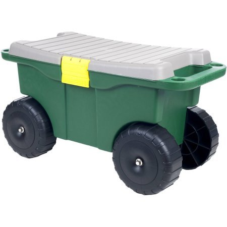 Pure Garden 20'' Plastic Garden Storage Cart and Scooter by Pure Garden