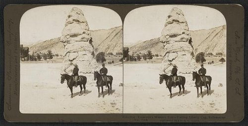 Photo: Photo of Stereograph, Theodore Roosevelt, Liberty Gap, Yellowstone National Park . Size: 8x10 ()