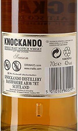 Knockando - Whisky escocés de malta 12 años botella 70 cl - Caja de 6 botellas