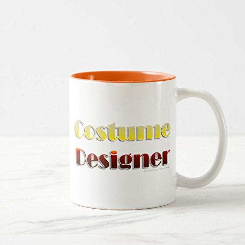 Zazzle Costume Designer (text Only) Coffee Mug, Orange Two-Tone Mug 11 oz Designer Two Tone Mug