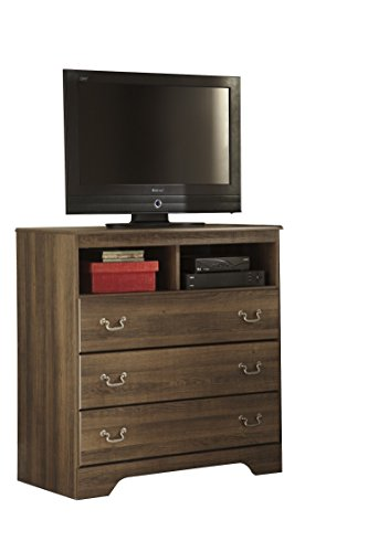 Ashley Allymore Media Chest In Brown by Ashley Furniture