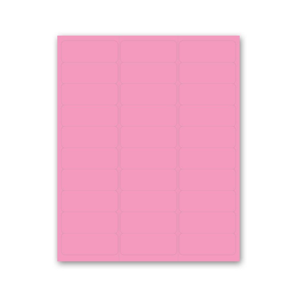 PDC Healthcare LS1258-4 Chart Labels Laser, Portrait, 2 5/8'' x 1'', Pink (Pack of 30)