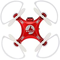 FQ777-954D Mini Wifi FPV RC Drone with 0.3MP Camera 2.4G 4CH 6-Axis Gyro RTF Quadcopter and One Key Return Headless Mode Drone - Red