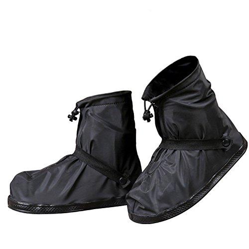 Negro Cubrezapatos cargador de lluvia impermeables KlGv2eu