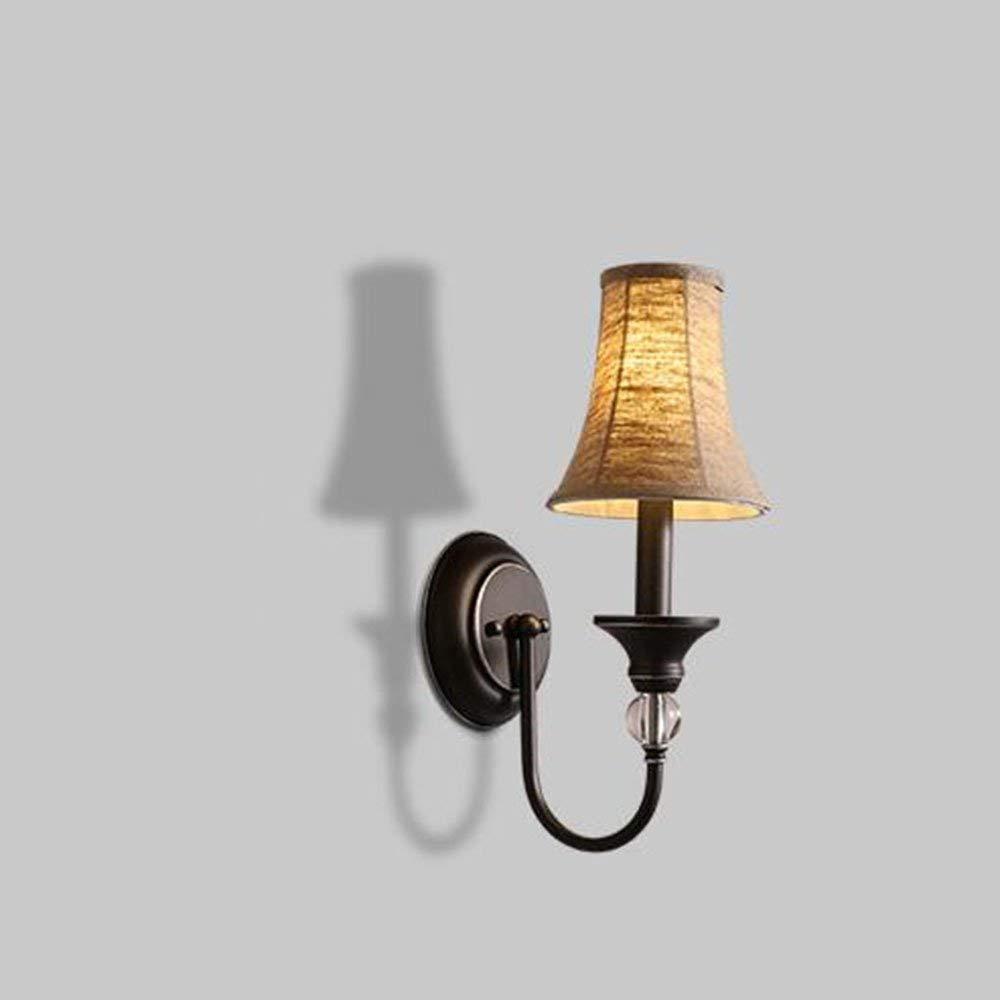 FuweiEncore Das amerikanische Tuch in der Art Wall Eisen Lampe, Das Bett Die Schlafzimmer Study Hall Lounge Wandleuchte (Farbe   -, Größe   -)