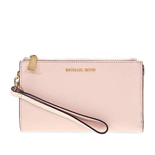 Pink Wristlet - MICHAEL Michael Kors Adele Leather Smartphone Wristlet (Soft Pink)