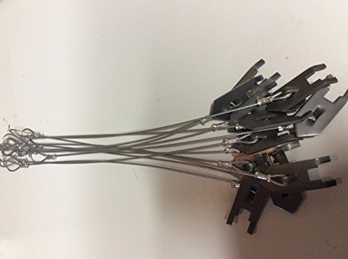 """12 WOlf Fang Earth Anchors with 18"""" of 3/32 galvanized aircraft cable"""