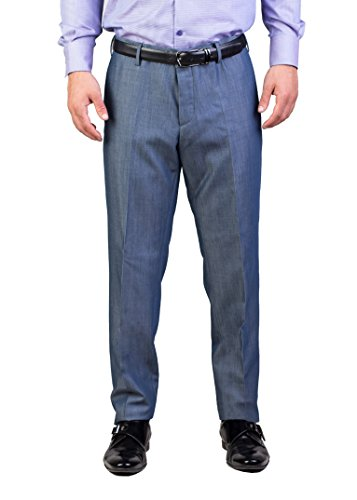 Prada Men's Virgin Wool Mohair Trouser Pants Sky - Trousers Suit Mohair
