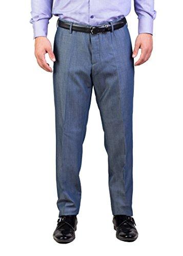 Prada Men's Virgin Wool Mohair Trouser Pants Sky - Mohair Suit Trousers