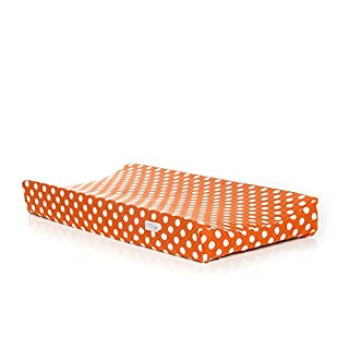 Sweet Potato Calliope Changing Pad Cover, Tangerine/Orange/ White
