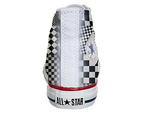 Converse All Star Hi Customized personalisierte Schuhe (Handwerk Schuhe) Pachtwork Texture