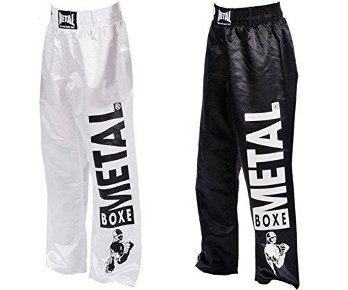 Metal Boxe - Pantalon Full Contact visual Metal Boxe (Blanc, 180)