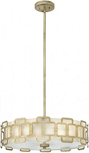 Hinkley 4914SL Transitional Four Light Stem Hung Pendant Foyer from Sabina collection in Pwt, Nckl, B S, Slvr.finish,