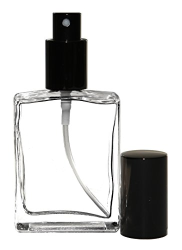 Riverrun Cologne Perfume Atomizer Empty Refillable Glass Bottle Black Sprayer 60ml 2 oz (1 Bottle)