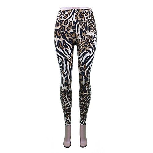 Zebra Print Yoga Pants - 7