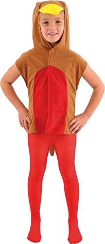 Children's Fancy Dress Party Xmas Outfit Robin Red Breast Bird Tabard Costume