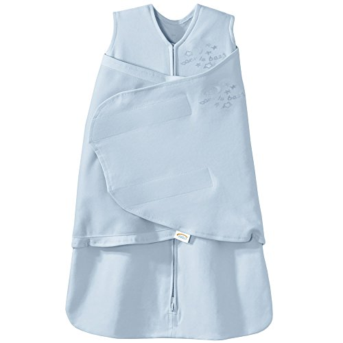 HALO SleepSack 100% Cotton Swaddle, Baby Blue, Small