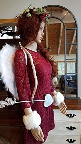 (Red Cupid Deluxe Wings Cuffs Halloween Costume, Elegant Cosplay Large, Size 12)