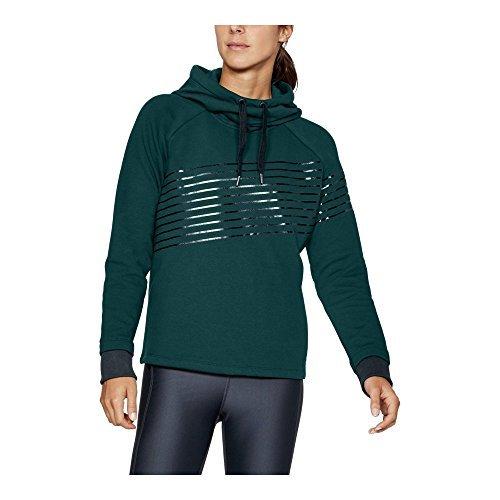 Under Armour Women's Threadborne Fleece Fashion Hoodie, Arden Green /Stealth Gray, X-Small