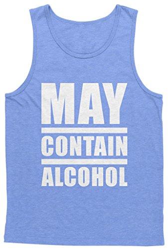 Blittzen Mens Tank May Contain Alcohol, XL, Light Blue