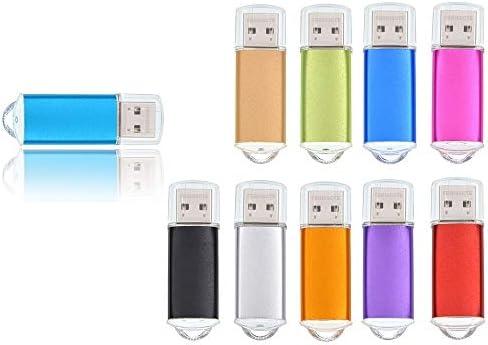 10 Pack 8GB USB Flash Drive Memory Stick Pendrive Flash Stick for Laptop Desktop