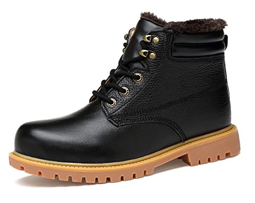 SONGYUNYAN Herren Outdoor Winter Leder verdicken Oxford Stiefel , black , 38