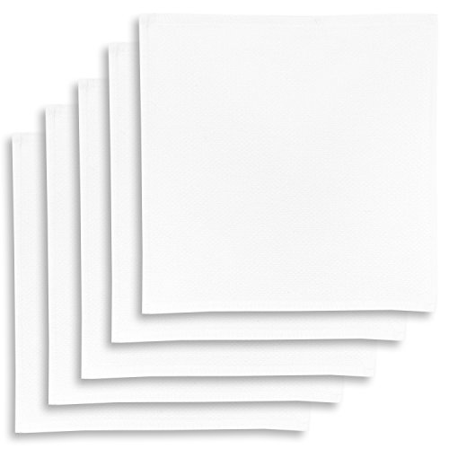5er-Set Geschirrtuch, Spültuch, Multifunktion Baumwolle weiss, KRACHT, Edition ziczac-affaires, ca.30x30cm