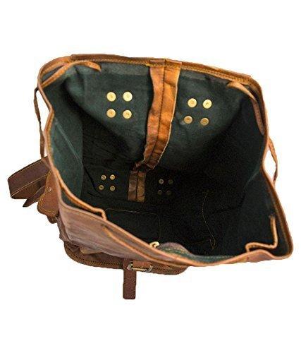 16 Inch Genuine Leather Backpack Vintage Daypack Travel Bag Unisex By Pranjals House
