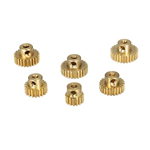 Hockus Accessories for ZD Racing M0.6 15T 19T 21T 23T 24T 25T Brass Metal Pinion Motor Gear for 1/10 RC Car RC Buggy Car Truck Part