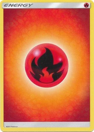 Pokemon Lot of X10 Basic Fire Type Energy Cards...Misc. Sets/Same Design