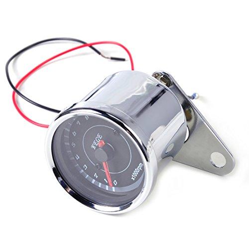 - eastar 60mm LED 13000 RPM Tachometer Scooter Analog Tacho Meter Gauge Motorcycle Universal