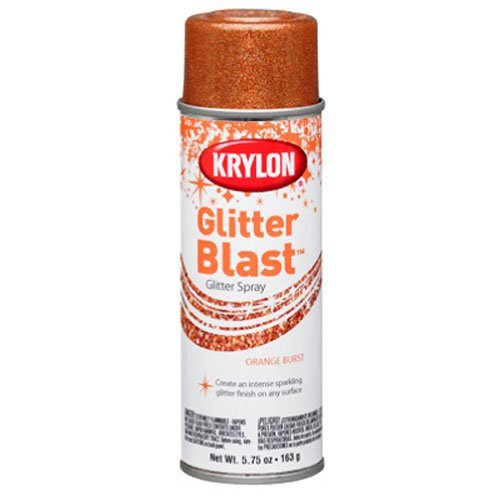 Krylon Glitter Blast, Orange Burst, 5.75 Ounce