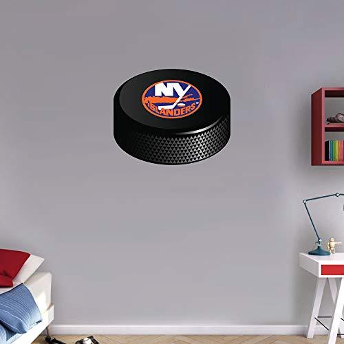 (Sport York Islanders Hockey Puck NHL Round Logo Art Wall Decor Sticker 12'' X 10'')