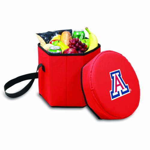 NCAA Arizona Wildcats Bongo Insulated Collapsible Cooler, Red