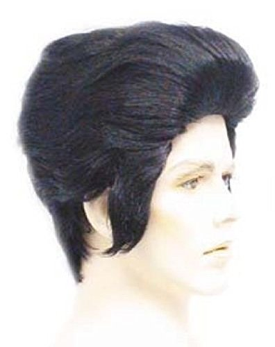 Costumes 1950s For Guys (OvedcRay 1950S 50'S Adult Mens Elvis Wig Black Rocker Pop Star Grease Costume)