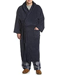 DXL Big and Tall Hooded Terry Robe