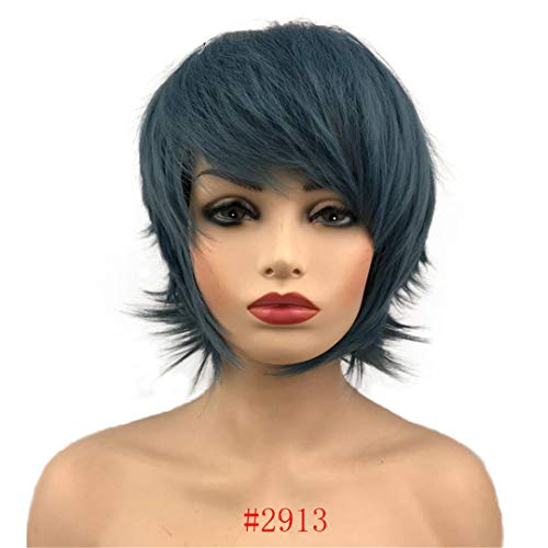 Ladies Wigs Short Straight Hair For Women Synthetic Capless Full Daily Cosplay Wig Many Colors 2913 10inches]()