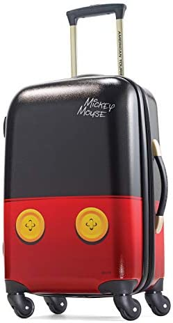 American Tourister Disney Hardside Luggage with Spinner Wheels, Mickey Mouse Pants, Carry-On 21-Inch,67610-4757