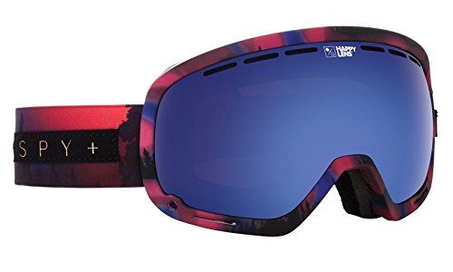 Spy Optic Marshall Snow Goggles, One Size (Aurora Pink Frame/Happy Dark Blue Spectra + Happy Lucid Blue Lens)