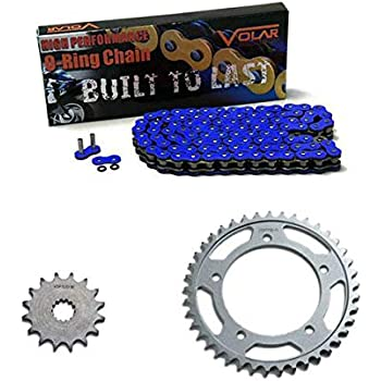 CALTRIC Black Drive Chain and Sprocket Kit Fits YAMAHA FZ6 FZ6S 2004-2009 530-Chain Type