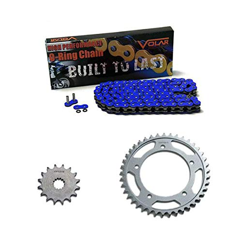 (2006-2018 Yamaha YZF R6 O-Ring Chain and Sprocket Kit Blue (530 Conv))