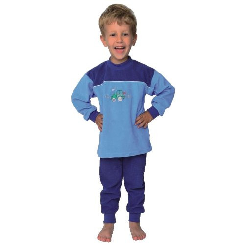 """mauz Pijama bebés/niños pequeños """"Tractor Color Azul Claro Rizo"""