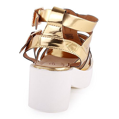 Dolcis Amsterdam Womens Synthetic Sandals Gold - 37 EU y6ZMobjhz
