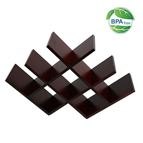 Pro2tec Wine Rack Butterfly Solid Wood Wine Rack Stores 8 Bottles of Wine Sleek and Chic Looking