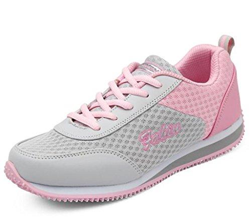 Lisyline Kvinners Sommer Mesh Pustende Slip-on Walking Sko Fitness Trene  Sneaker Rosa